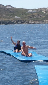 Floating in the Aegean Sea